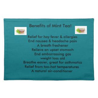 Mint tea placemats