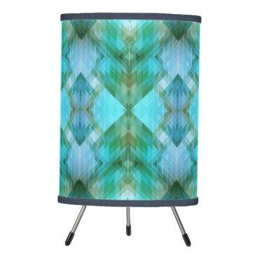 Aztec Themed Mint Teal Aztec Geometric Pattern Design Lamp