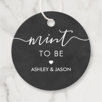 Mint to Be Gift Tag, Wedding Mints Tag, Chalkboard Favor Tags