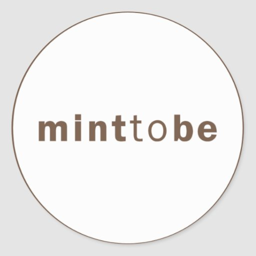 MINT TO BE - MINT WEDDING FAVOR LABEL ROUND STICKER