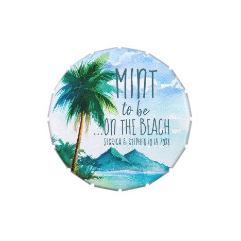 Mint to be on the Beach Destination Wedding Favor Candy Tin