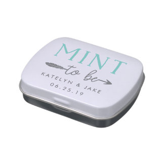 Mint to Be | Personalized Wedding Favor Mints Candy Tin