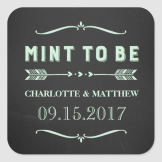 Mint to Be Rustic Chalkboard Wedding Favor Tags