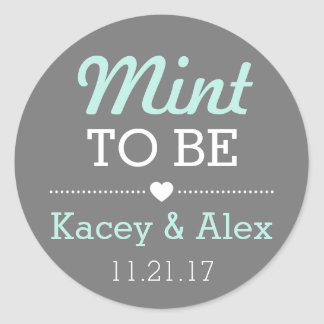 Mint To Be Stickers Wedding Favors