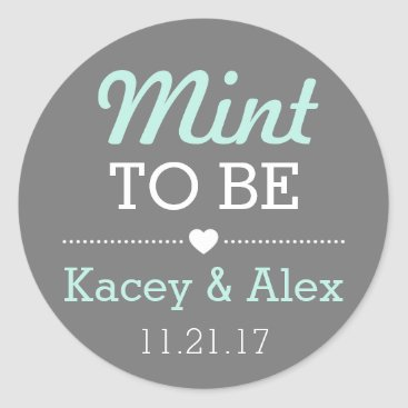 Valentines Themed Mint To Be Stickers Wedding Favors