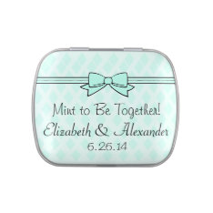 Mint To Be Wedding Favor After Dinner Mints Jelly Belly Tins at Zazzle