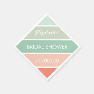 Mint to Coral Bridal Shower Napkins