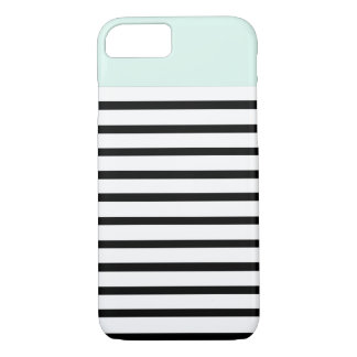 mint top stripes iPhone 7 case