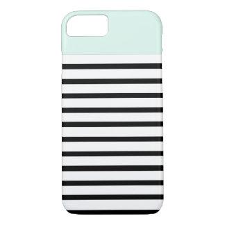 mint top stripes iPhone 7 case