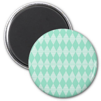 Mint Triangle - Diamond pattern with white stripes Magnet
