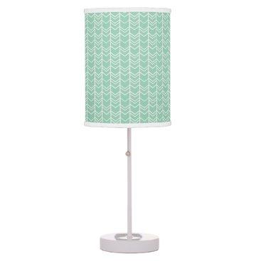 Aztec Themed Mint Tribal Chevron pattern nursery bedroom decor Table Lamp