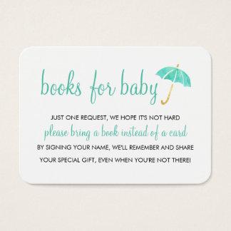 Mint Umbrella Baby Shower | Books For Baby Insert