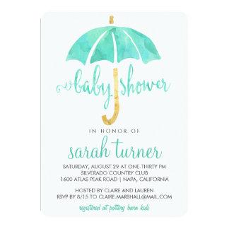umbrella baby shower invitations announcements zazzle