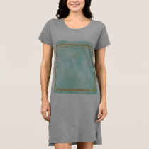 mint water colour,faux gold preppy square pattern, dress