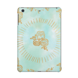 mint,water colour,gold,hand painted,trendy,modern, iPad mini covers