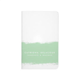 Mint Watercolor Splash Personalized Journal