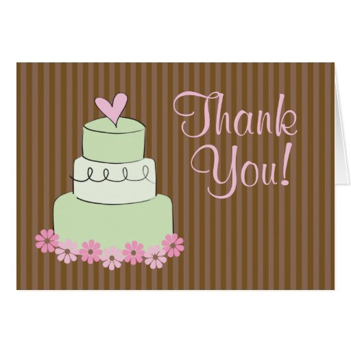 wedding cake thank you notes mint wedding cake quot thank you quot stationery note card zazzle 26246