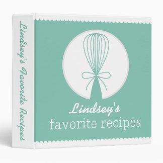 Mint Whisk Silhouette Recipe Binder