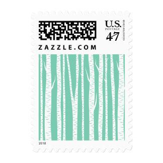 Mint White Birch Trees Postage Stamp
