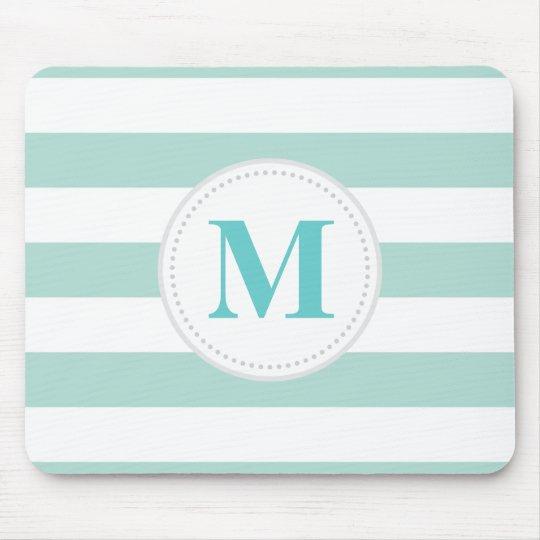Mint Wide Stripe Mouse Pad