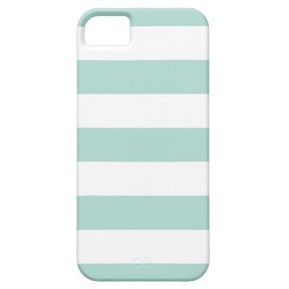 Mint Wide Stripes iPhone 5 Covers