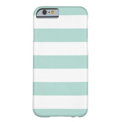 Mint Wide Stripes iPhone 6 Case