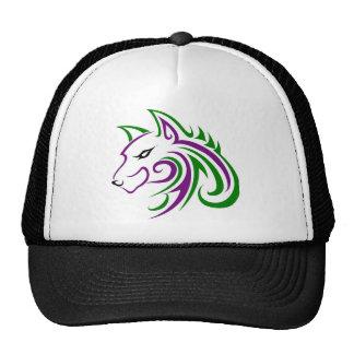 Mint Wolf Head Outline Trucker Hat