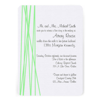 Mint Wrapped Wedding Invitation