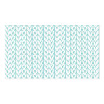Mint Yarn Chevrons Knit Pattern Customizable Double-Sided Standard Business Cards (Pack Of 100)