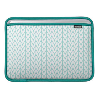 Mint Yarn Chevrons Knit Pattern Customizable Sleeves For MacBook Air