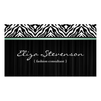 Mint Zebra Fashion Consultant Business Card