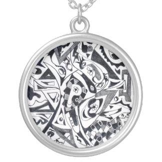 Minta Round Pendant Necklace
