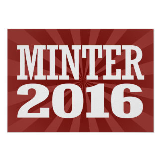 Minter - Sue Minter 2016 Poster