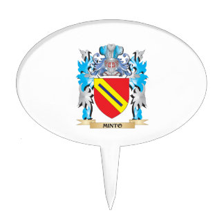 Minto Coat of Arms - Family Crest Cake Pick
