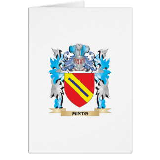 Minto Coat of Arms - Family Crest Greeting Cards