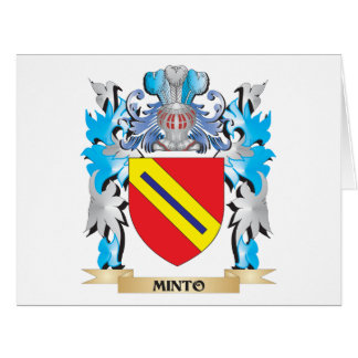 Minto Coat of Arms - Family Crest Cards