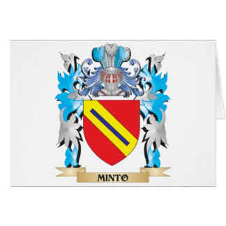 Minto Coat of Arms - Family Crest Card