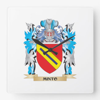 Minto Coat of Arms - Family Crest Clocks