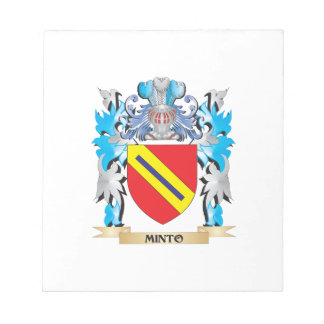 Minto Coat of Arms - Family Crest Memo Notepad