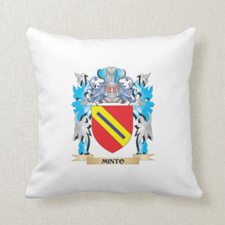 Minto Coat of Arms - Family Crest Throw Pillow