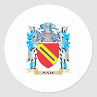 Minto Coat of Arms - Family Crest Stickers