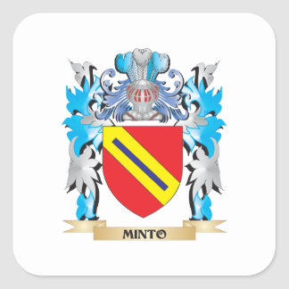Minto Coat of Arms - Family Crest Square Sticker