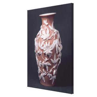Minton Parian Ware vase, 1894 Canvas Print