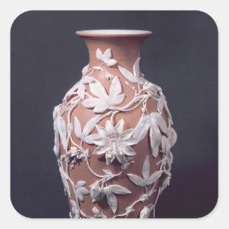Minton Parian Ware vase, 1894 Square Sticker