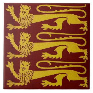 Minton Pugin Gothic Lions Tile 1850s Reproduction
