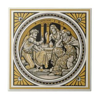 Minton Shakespeare Othello Tile by John Moyr Smith