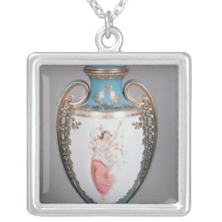 Minton vase, 1862 silver plated necklace