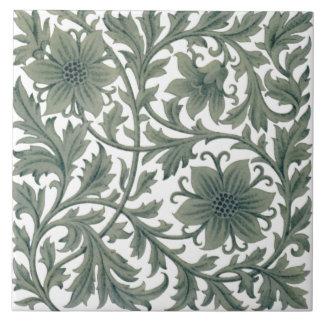 Minton Wm Morris Style Repro 1890s Tile on White