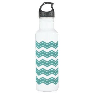 Minty Chevron Water Bottle