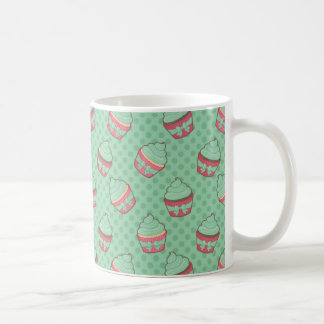 Minty Cupcake Pattern Coffee Mug